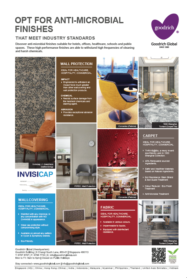 Anti_microbial Wallpaper, Wallcovering Singapore | Goodrich Global